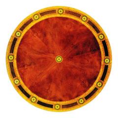 6ft Mahogany Incaid Round Table