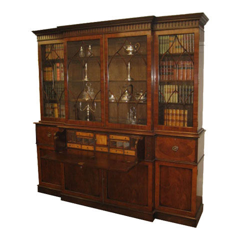 An Original Victorian secetaire Base with an added Bookcase top