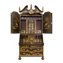 Black Lacquered Bureau Bookcase