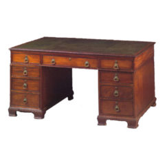 Fine Mahogany Georgian Style Partners Desk