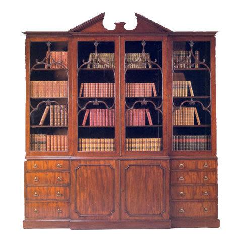 George III Style Breakfront Bookcase