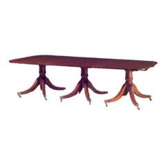 George IV Style Mahogany Three Pedestal Dining Table