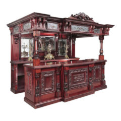 Heavily Carved Ornate Canopy Bar
