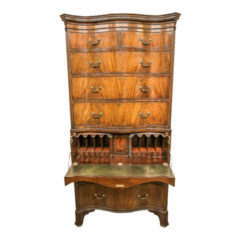 Impressive Mahogany Serpentine Chest on Chest Circa 1940