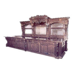 Large Carved Mahogany Bar