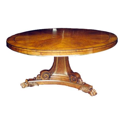 Large Walnut Round Table