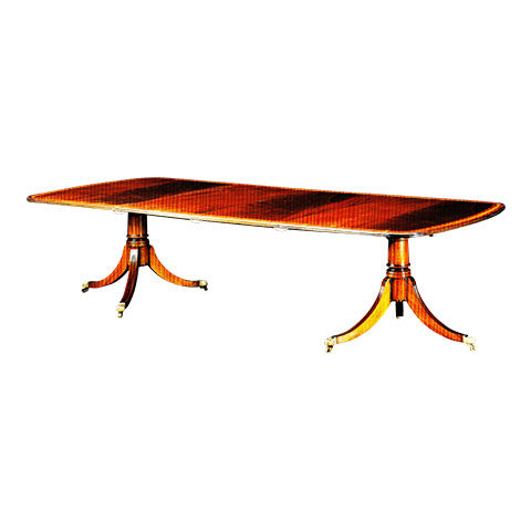 Mahogany 10ft Regency Style 2 Pedestal Table