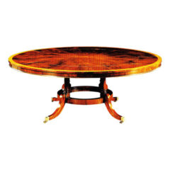 Mahogany Expanding Circular Table with Segmented Top