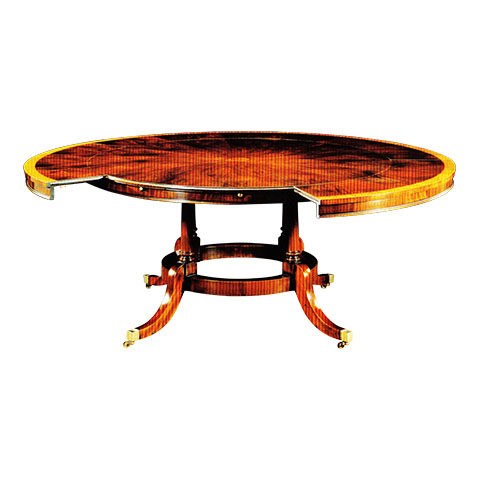 Mahogany Expanding Circular Table with Segmented Top
