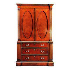 Mahogany Lintin Press Oval Doors and Pilasters