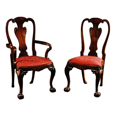 Mahogany Queen Anne Style Chair