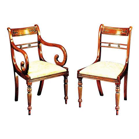 Mahogany Tulip Back Regency Style Chair