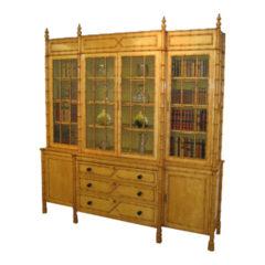 Maple Simulated Bamboo Bookcase