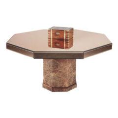 Peach Mirror Art Deco Centre Table