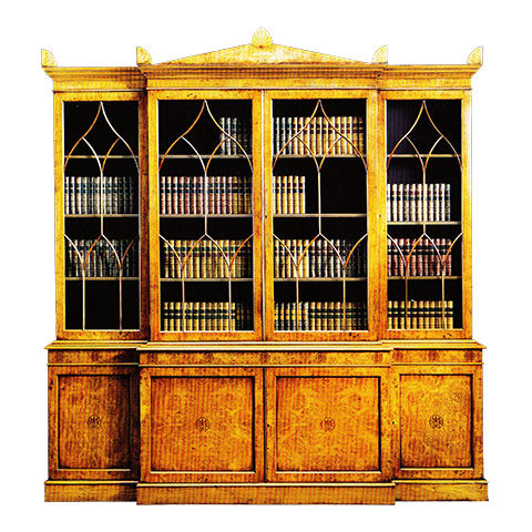 Pollard Oak Bullock Breakfront Bookcase