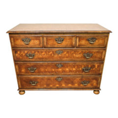 Rare Victorian Yew - Wood Chest of Drawers Circa 1860