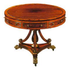 Regency Style Drum Table