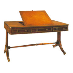 Rosewood Writing Table with Leather Top