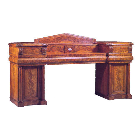 Scottish William IV Mahogany Pedestal Sideboard (circa 1830)