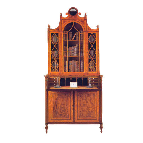 Sheraton Style Bookcase in Figured Satinwood