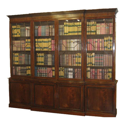 Totally restored Large Mahogany Bookcase