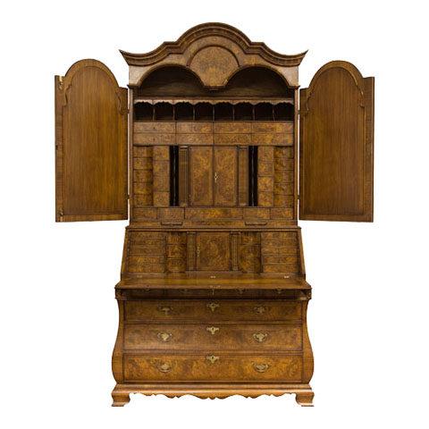 Walnut Bureau Bookcase