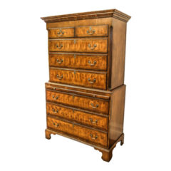 "Wonderful Yew-Wood ""Oyster"" Chest on Chest (Circa 1820)"